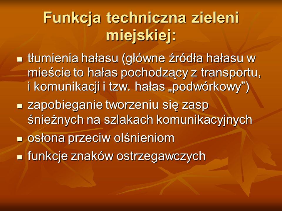 Funkcja techniczna zieleni miejskiej: