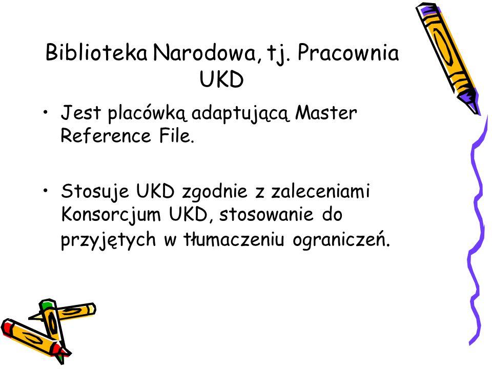 Biblioteka Narodowa, tj. Pracownia UKD