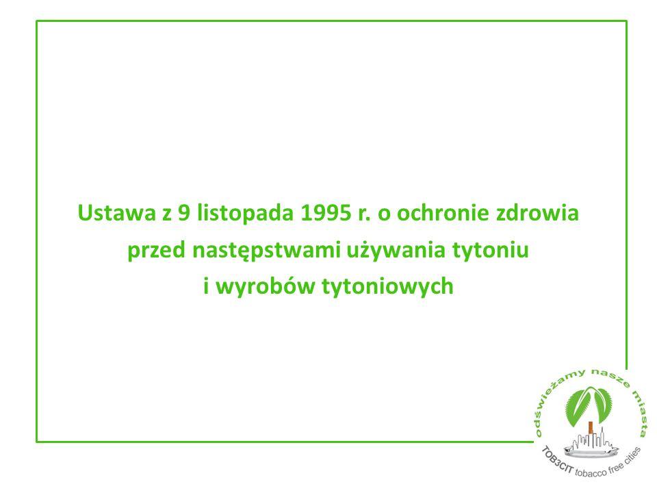 Ustawa z 9 listopada 1995 r.