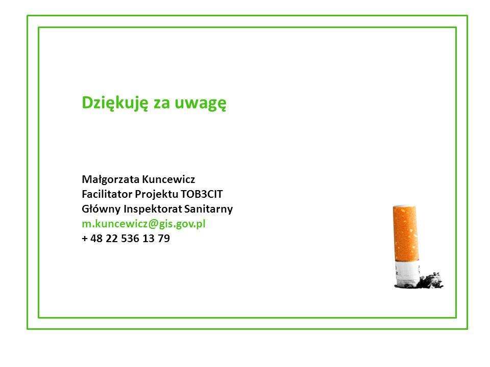 Dziękuję za uwagę Małgorzata Kuncewicz Facilitator Projektu TOB3CIT