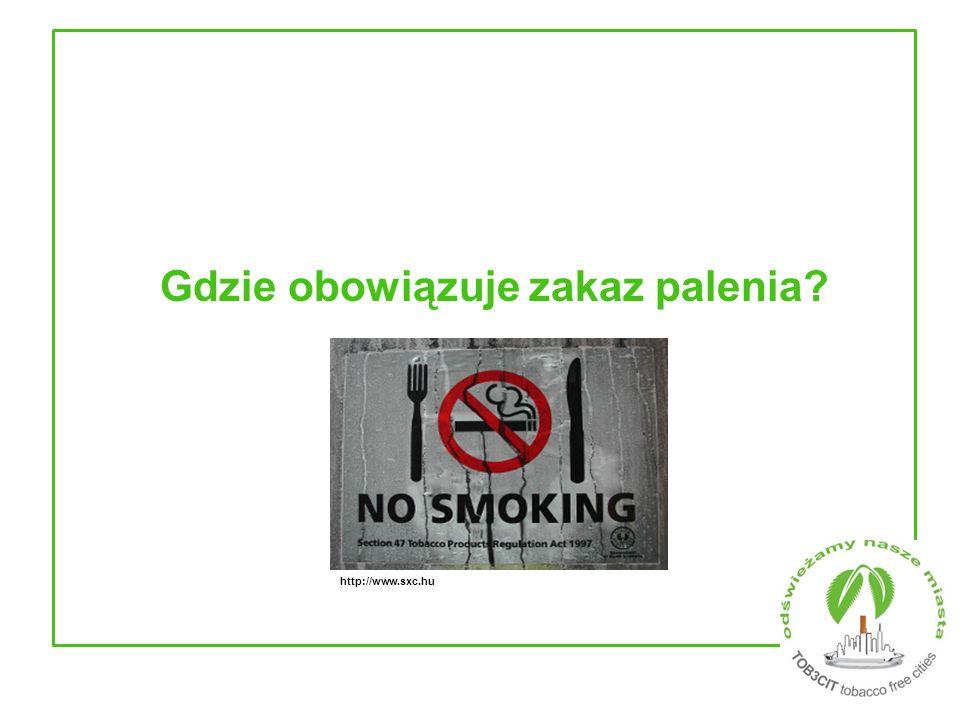 Gdzie obowiązuje zakaz palenia