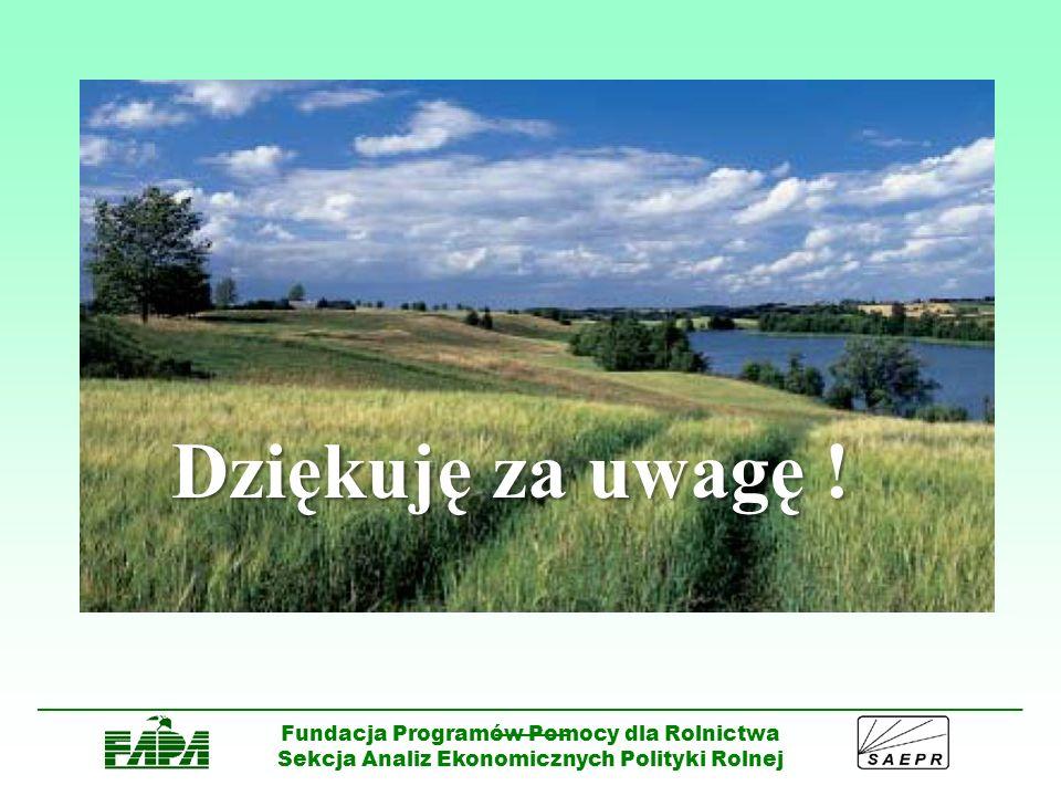 Dziękuję za uwagę ! Fundacja Programów Pomocy dla Rolnictwa