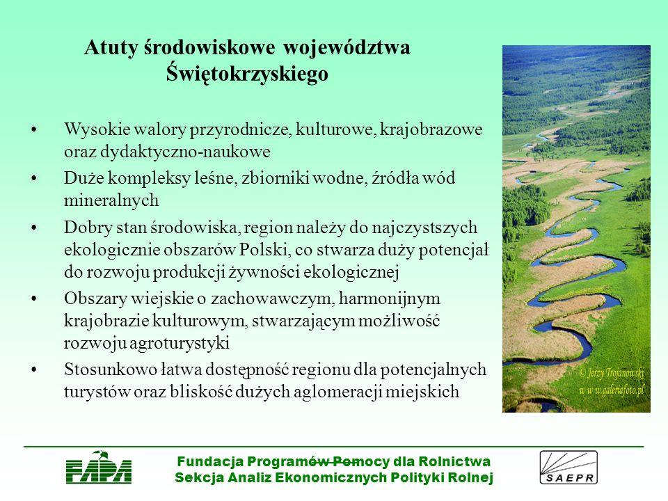 Atuty środowiskowe województwa Świętokrzyskiego