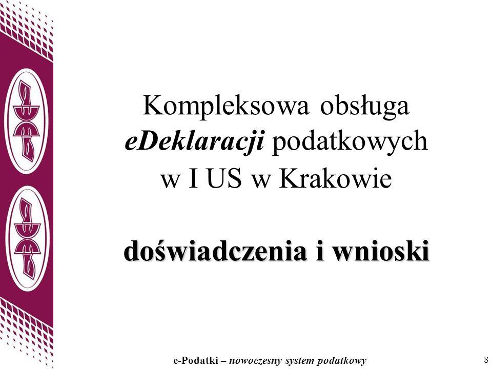 Kompleksowa obsługa eDeklaracji podatkowych w I US w Krakowie doświadczenia i wnioski
