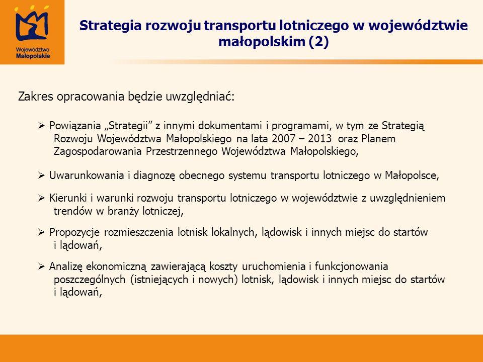 Strategia rozwoju transportu lotniczego w województwie małopolskim (2)