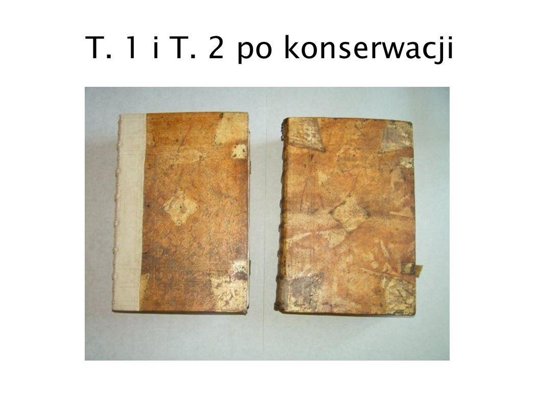 T. 1 i T. 2 po konserwacji