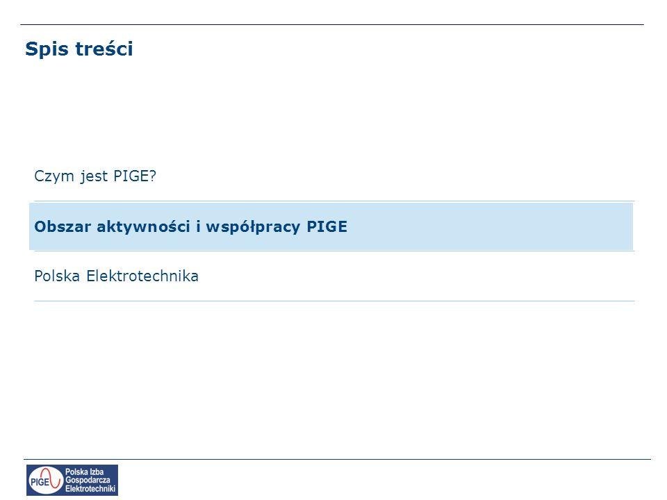 Spis treści Czym jest PIGE Obszar aktywności i współpracy PIGE