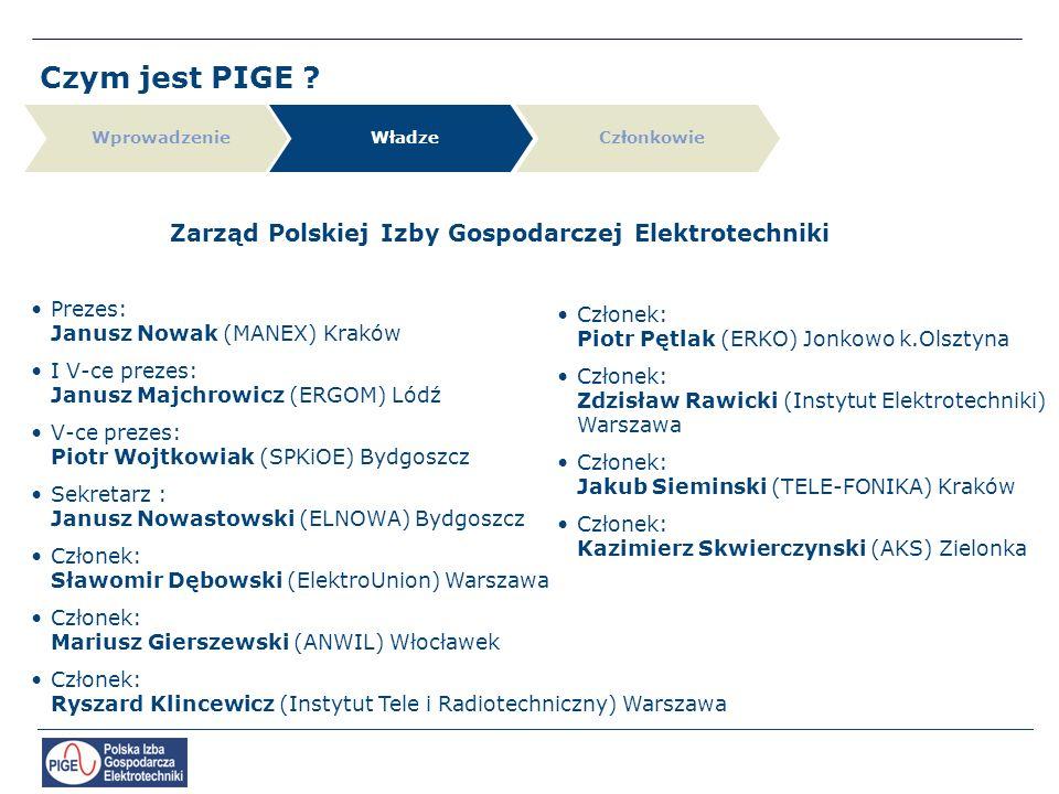 Zarząd Polskiej Izby Gospodarczej Elektrotechniki