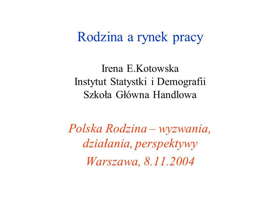 Polska Rodzina – wyzwania, działania, perspektywy Warszawa, 8.11.2004