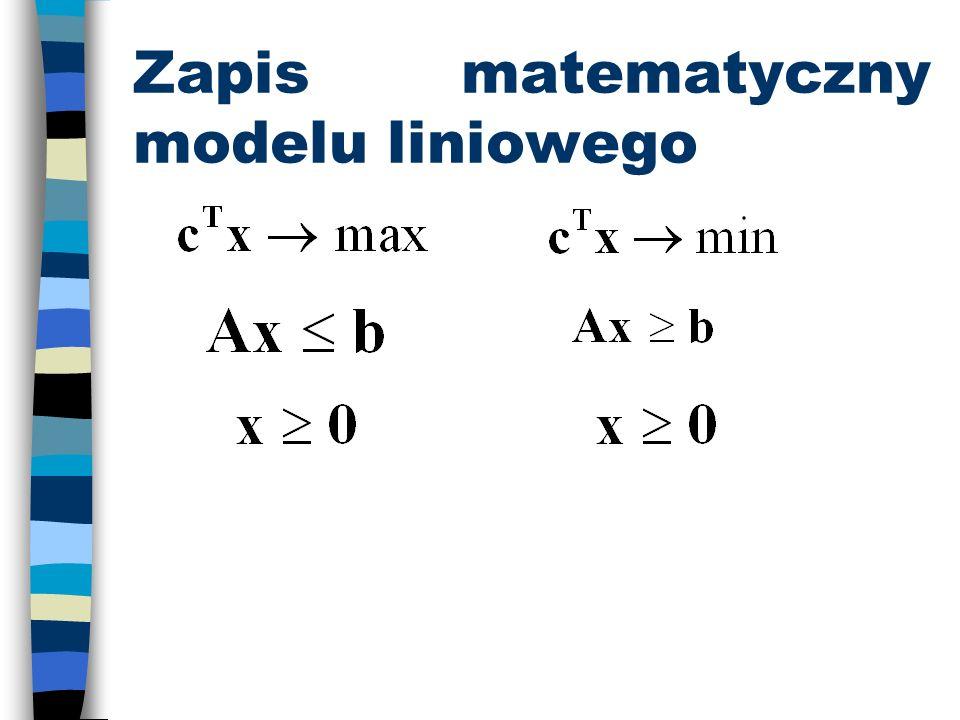 Zapis matematyczny modelu liniowego