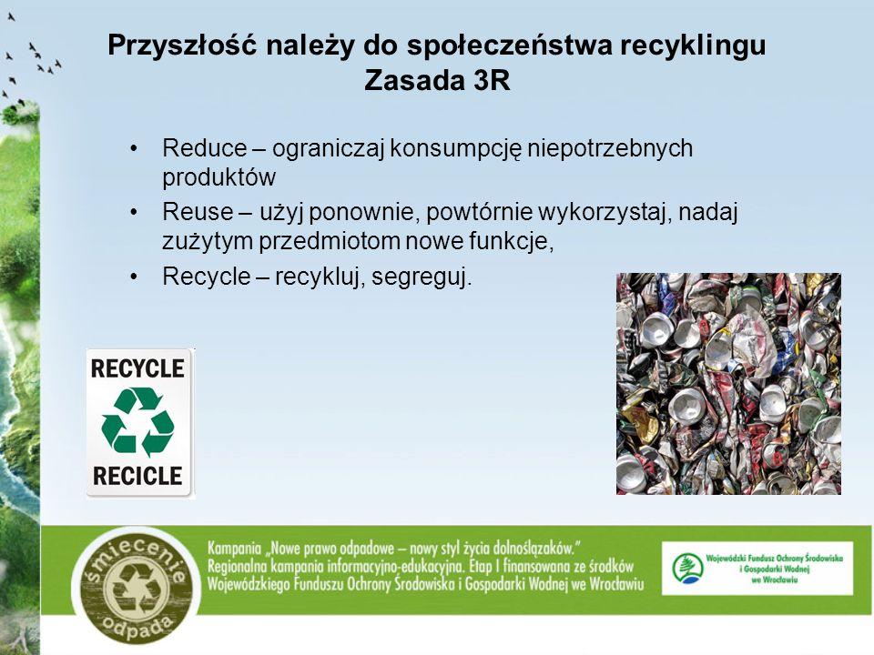 Przyszłość należy do społeczeństwa recyklingu Zasada 3R