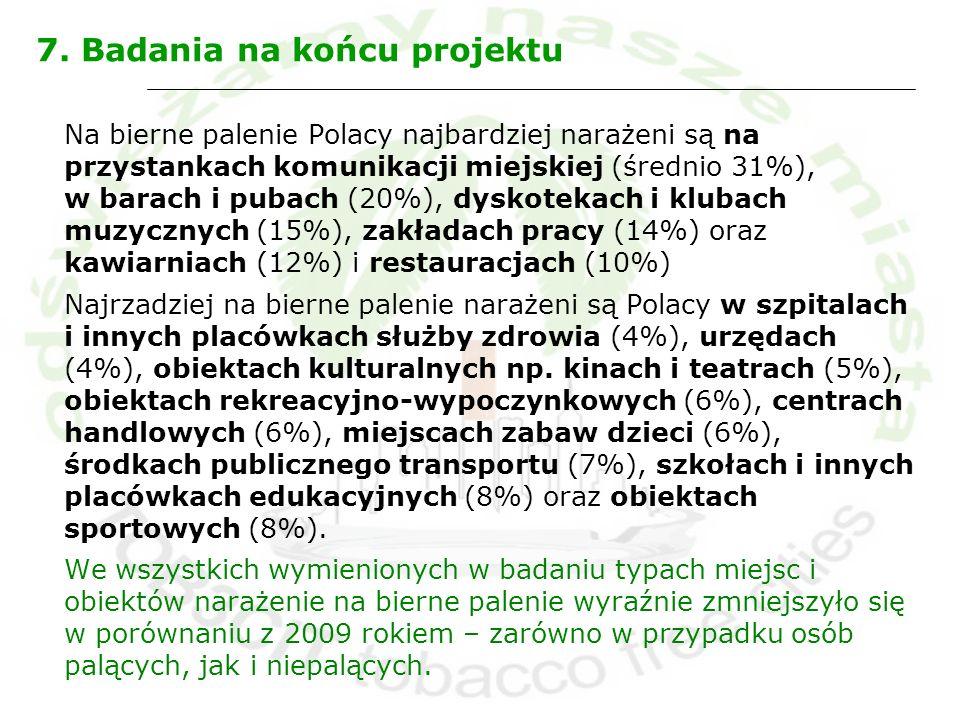 7. Badania na końcu projektu