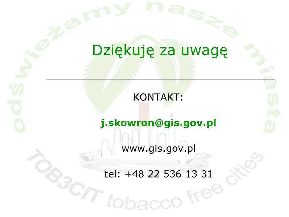 KONTAKT: j.skowron@gis.gov.pl www.gis.gov.pl tel: +48 22 536 13 31