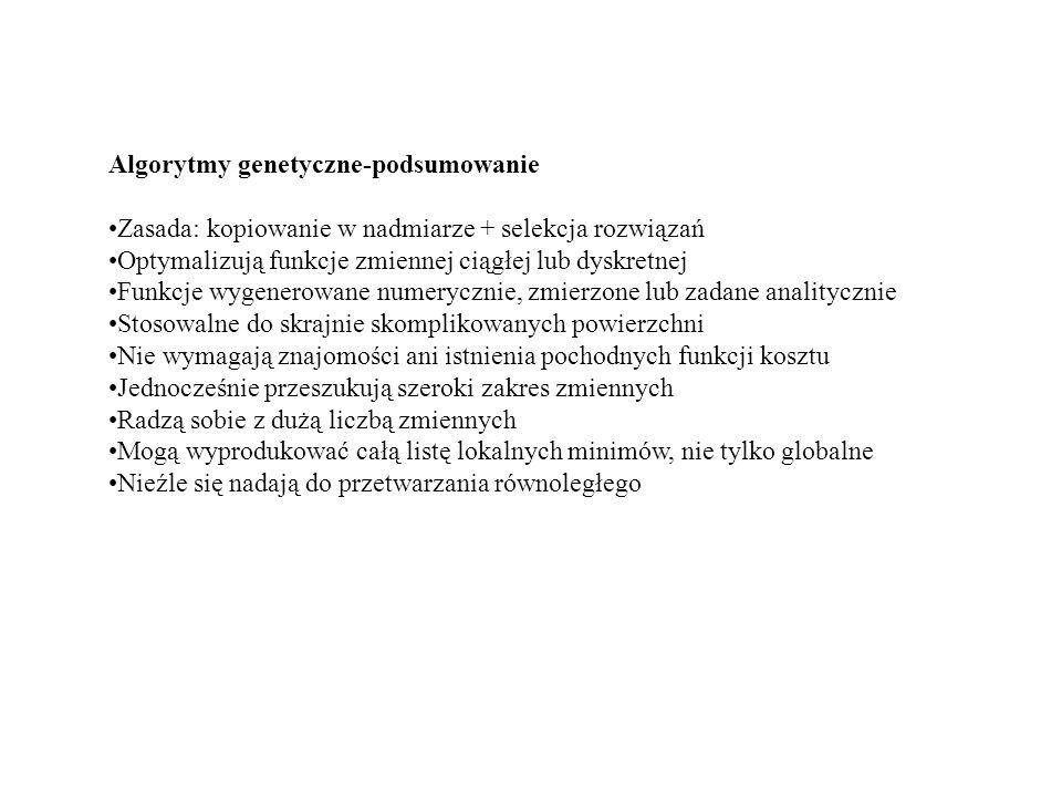 Algorytmy genetyczne-podsumowanie