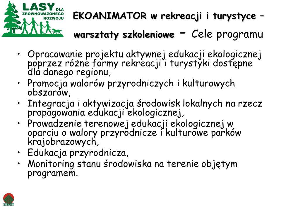 EKOANIMATOR w rekreacji i turystyce – warsztaty szkoleniowe - Cele programu