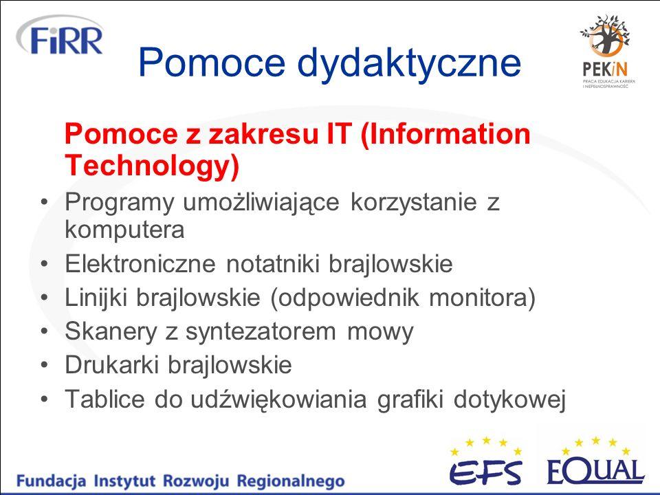 Pomoce dydaktyczne Pomoce z zakresu IT (Information Technology)