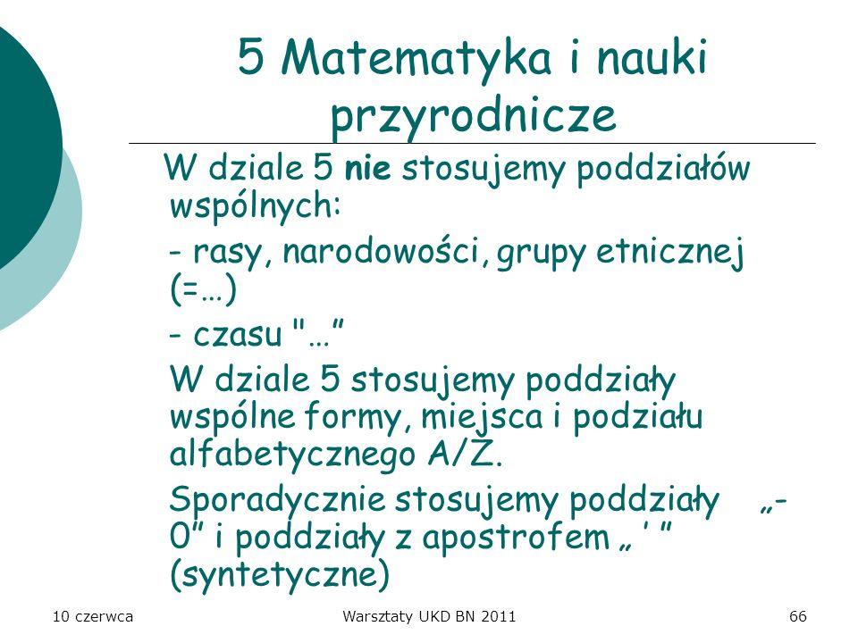 5 Matematyka i nauki przyrodnicze