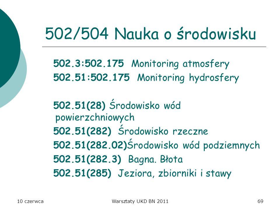 502/504 Nauka o środowisku 502.3:502.175 Monitoring atmosfery