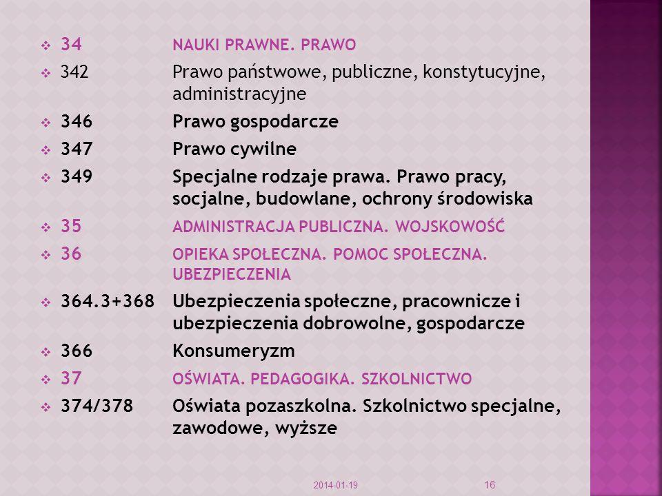 342 Prawo państwowe, publiczne, konstytucyjne, administracyjne