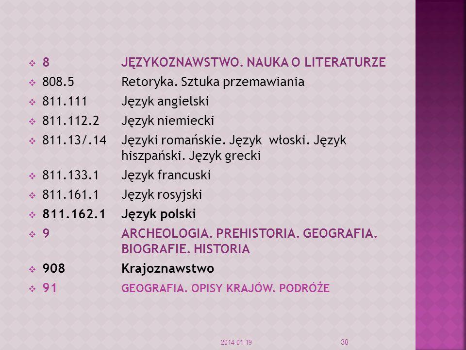 8 JĘZYKOZNAWSTWO. NAUKA O LITERATURZE