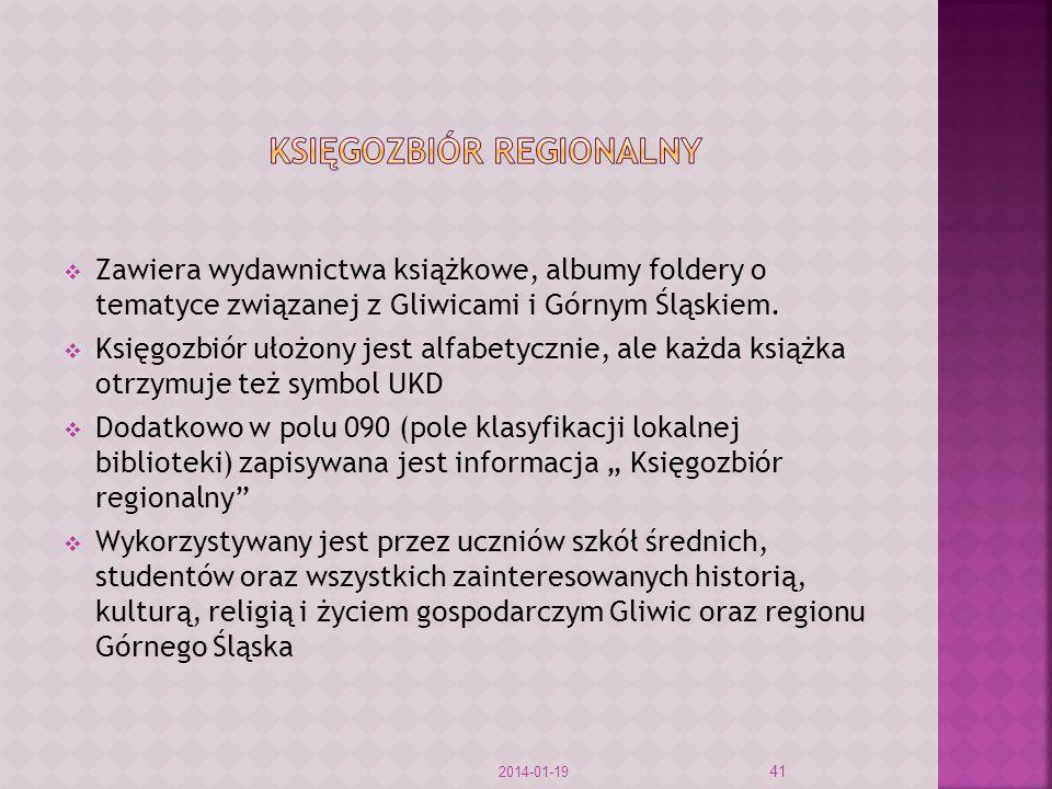 KSIĘGOZBIÓR REGIONALNY