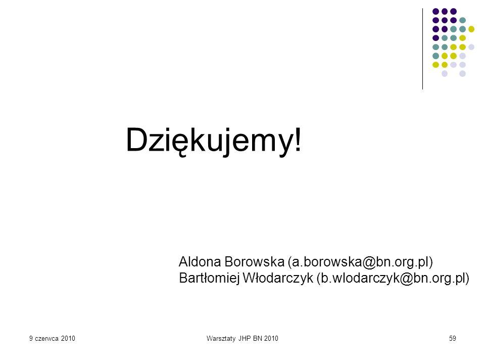 Dziękujemy! Aldona Borowska (a.borowska@bn.org.pl)
