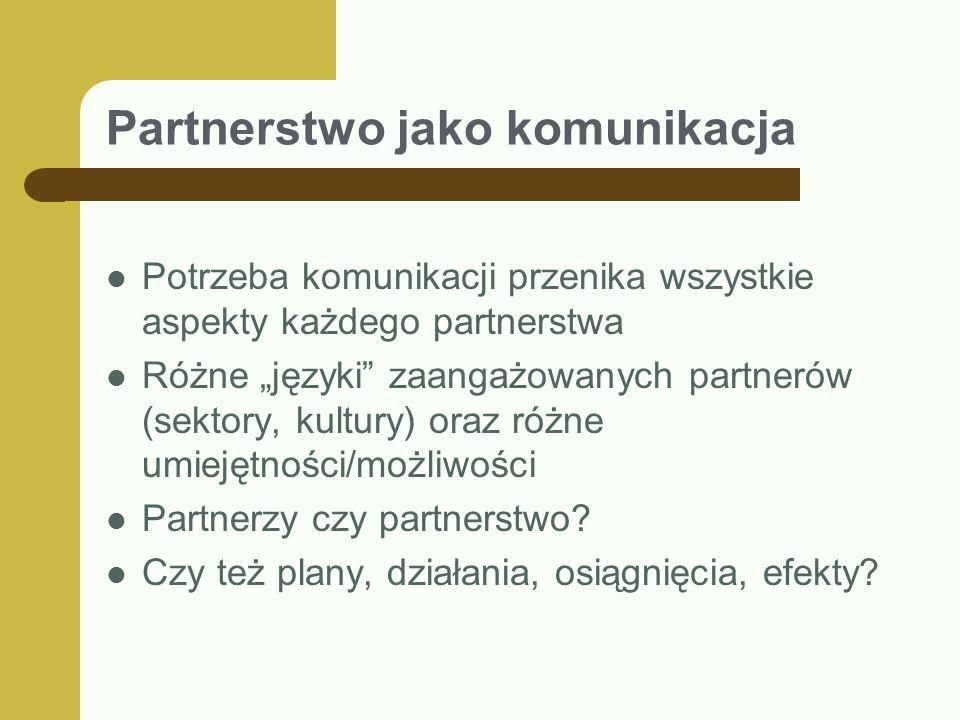 Partnerstwo jako komunikacja