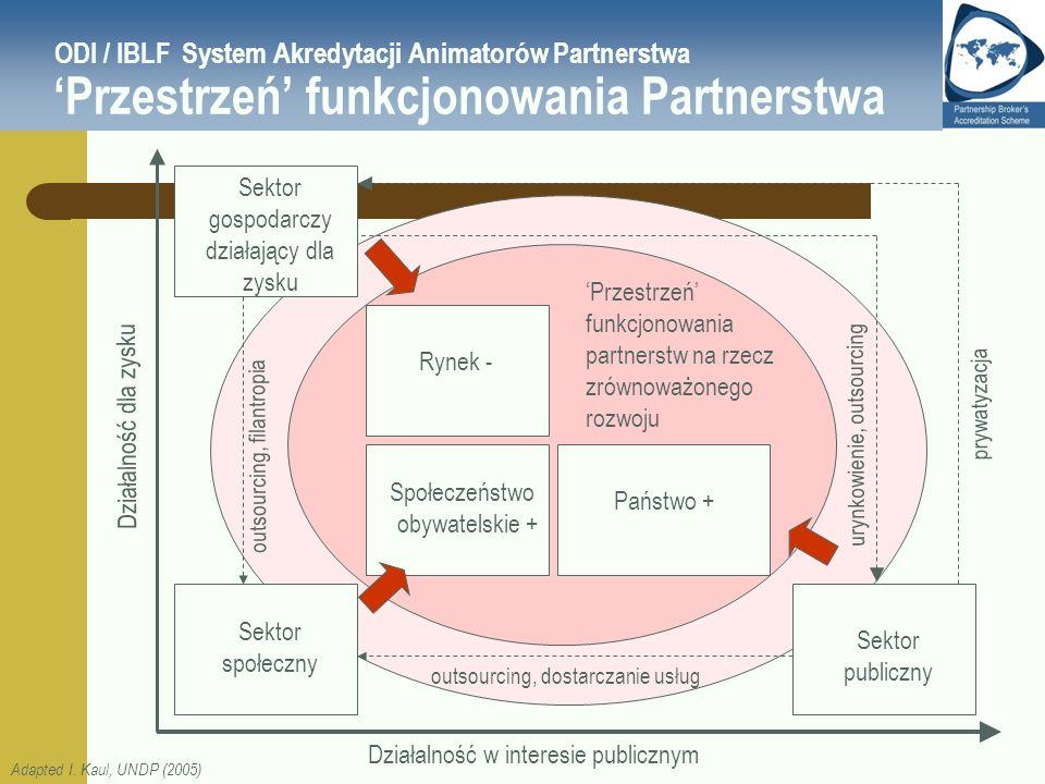 ODI / IBLF System Akredytacji Animatorów Partnerstwa 'Przestrzeń' funkcjonowania Partnerstwa