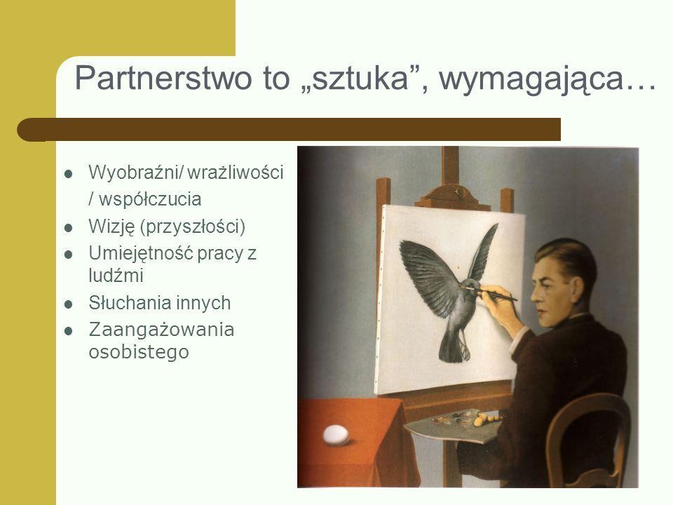 """Partnerstwo to """"sztuka , wymagająca…"""