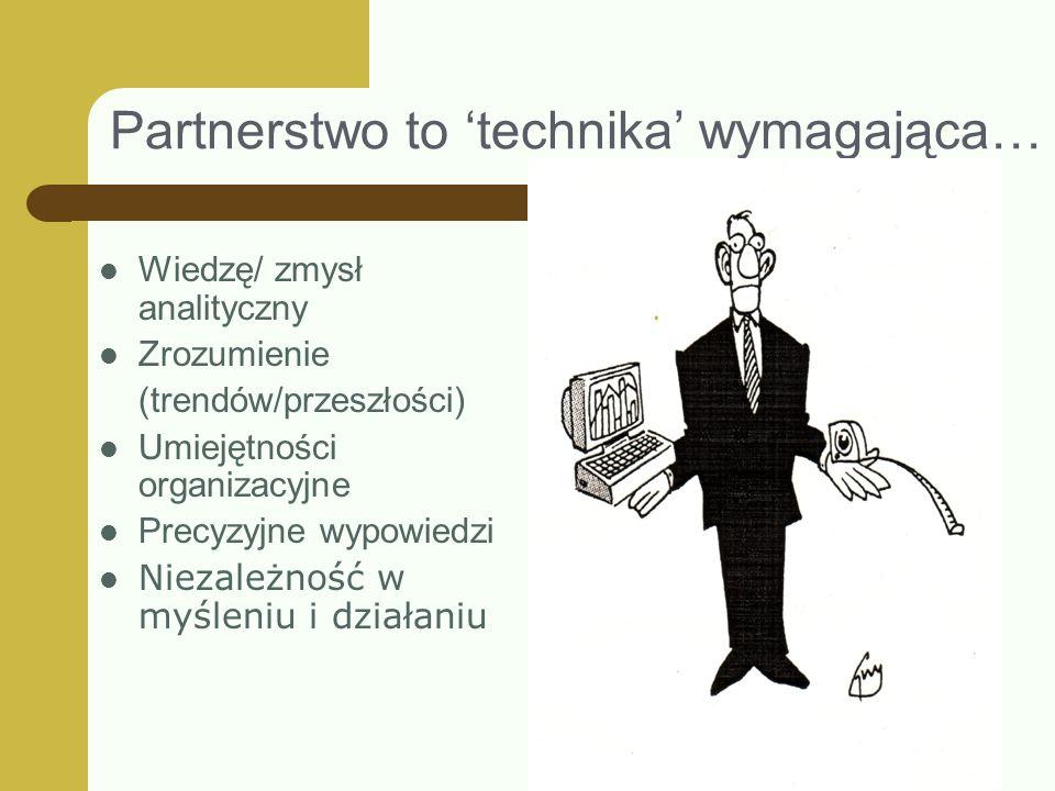 Partnerstwo to 'technika' wymagająca…