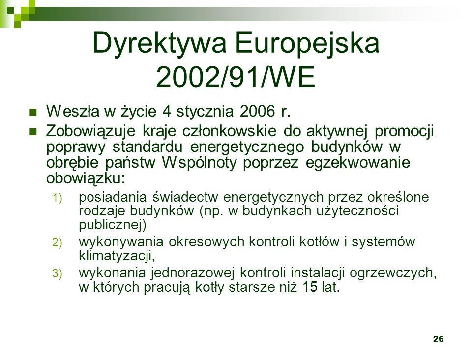 Dyrektywa Europejska 2002/91/WE
