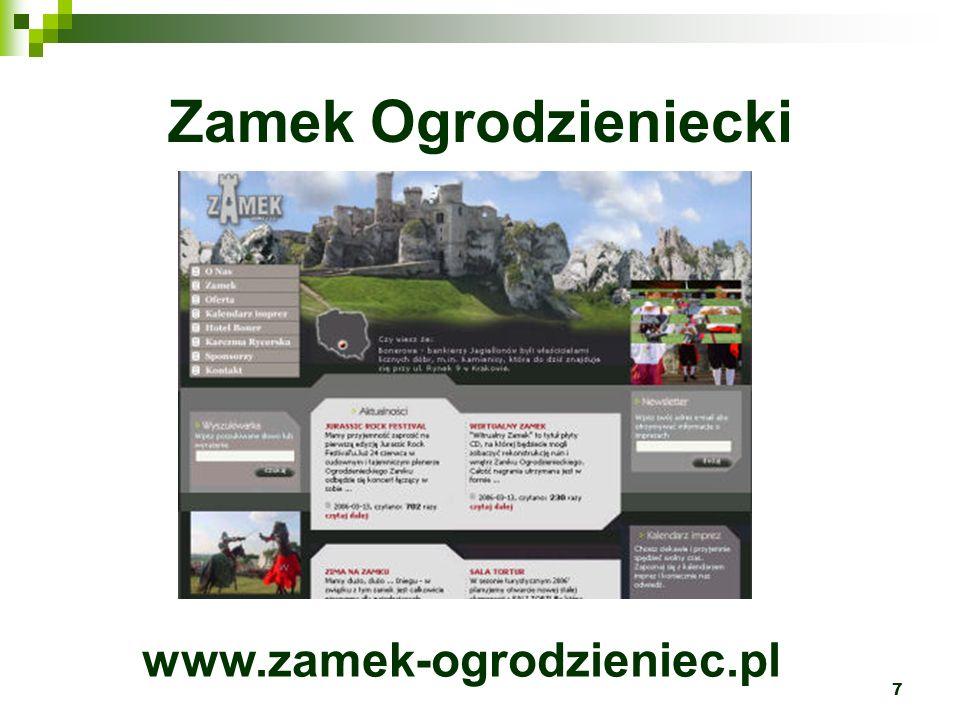 Zamek Ogrodzieniecki www.zamek-ogrodzieniec.pl