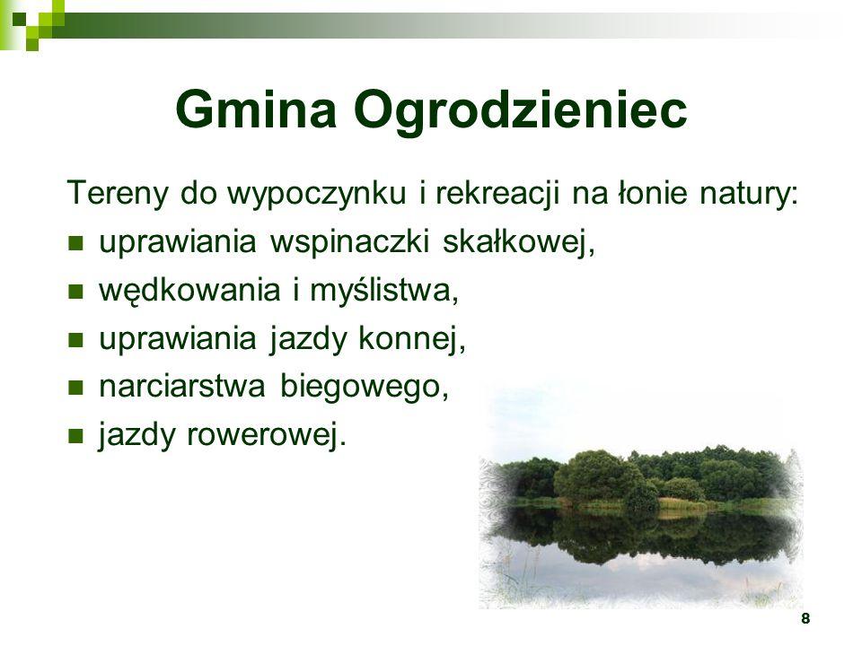 Gmina Ogrodzieniec Tereny do wypoczynku i rekreacji na łonie natury:
