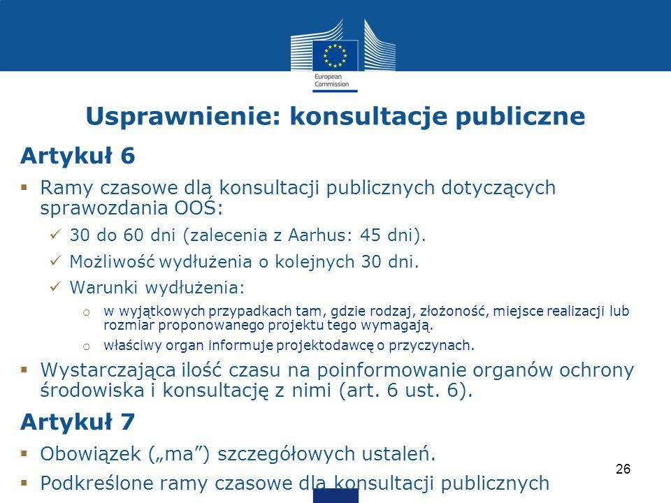 Usprawnienie: konsultacje publiczne