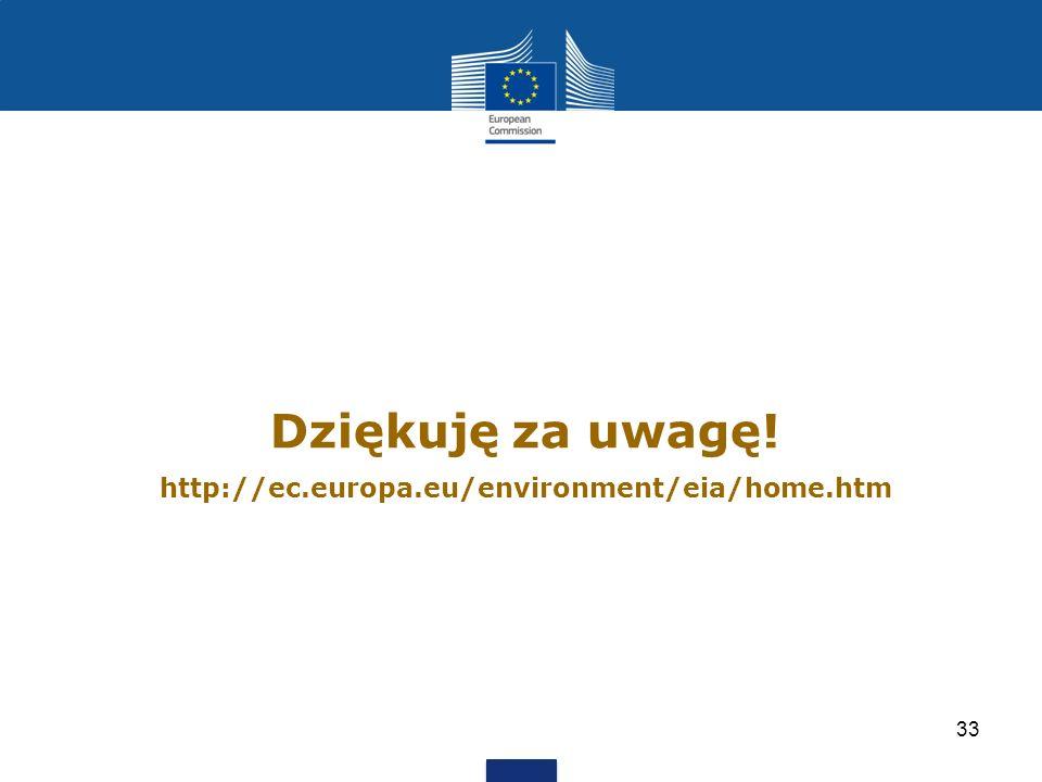 Dziękuję za uwagę! http://ec.europa.eu/environment/eia/home.htm