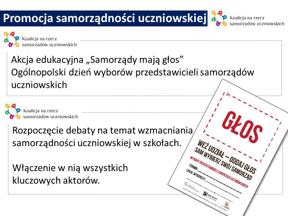 Promocja samorządności uczniowskiej