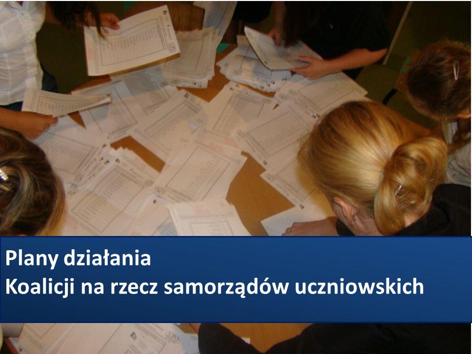 Plany działania Koalicji na rzecz samorządów uczniowskich