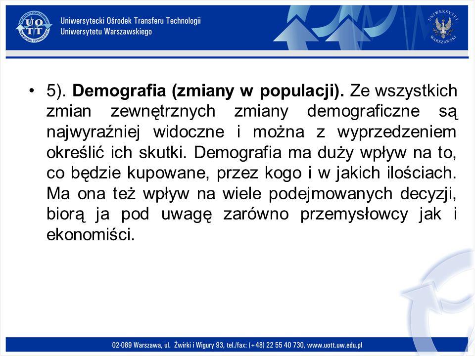 5). Demografia (zmiany w populacji)
