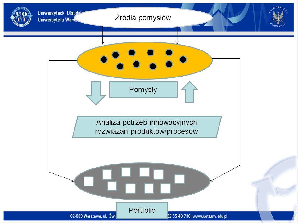 Analiza potrzeb innowacyjnych rozwiązań produktów/procesów