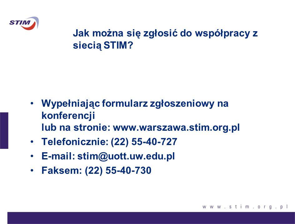 Jak można się zgłosić do współpracy z siecią STIM