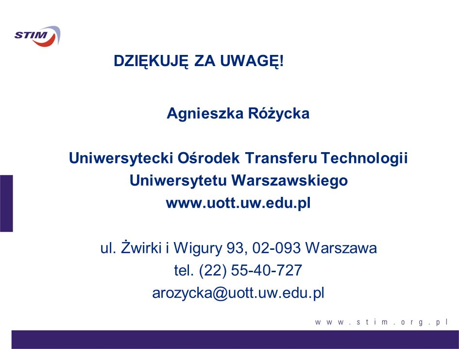 Uniwersytecki Ośrodek Transferu Technologii Uniwersytetu Warszawskiego