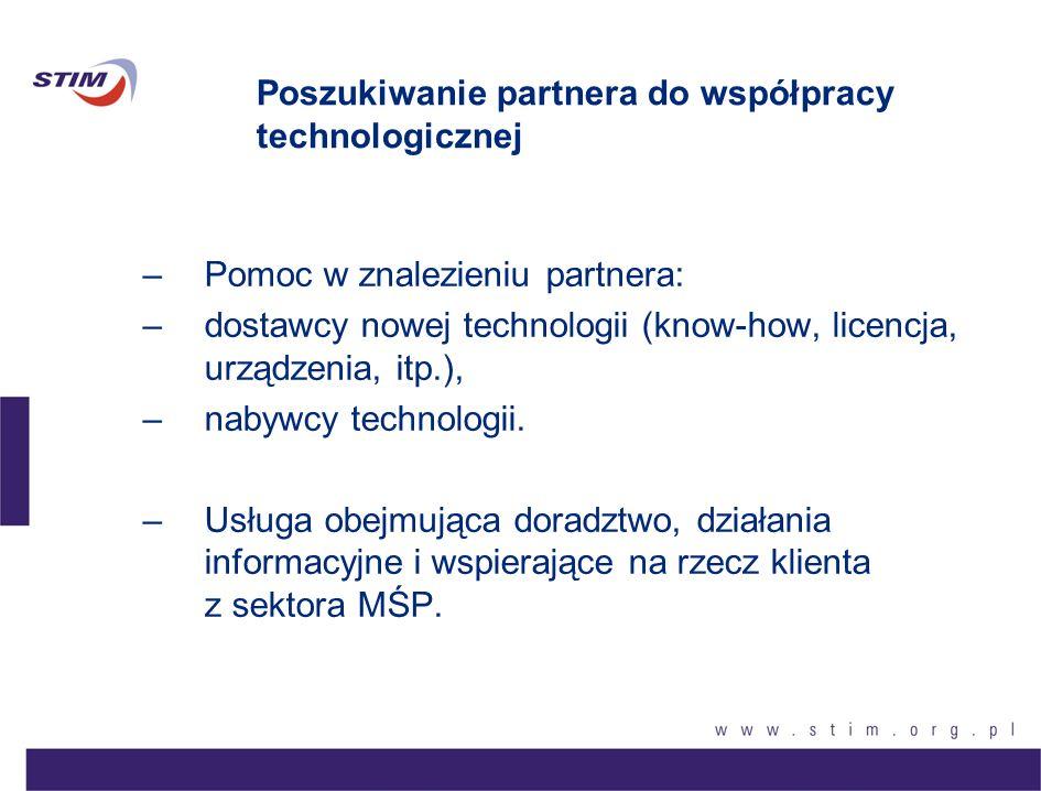 Poszukiwanie partnera do współpracy technologicznej