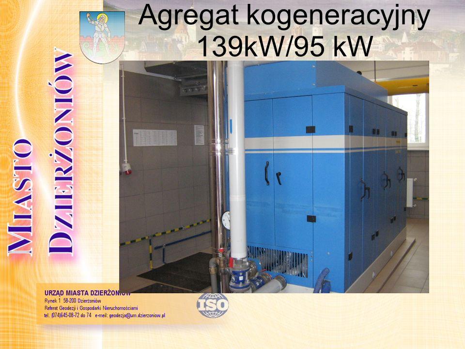 Agregat kogeneracyjny 139kW/95 kW