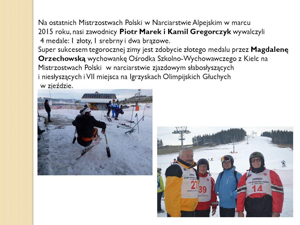 Na ostatnich Mistrzostwach Polski w Narciarstwie Alpejskim w marcu