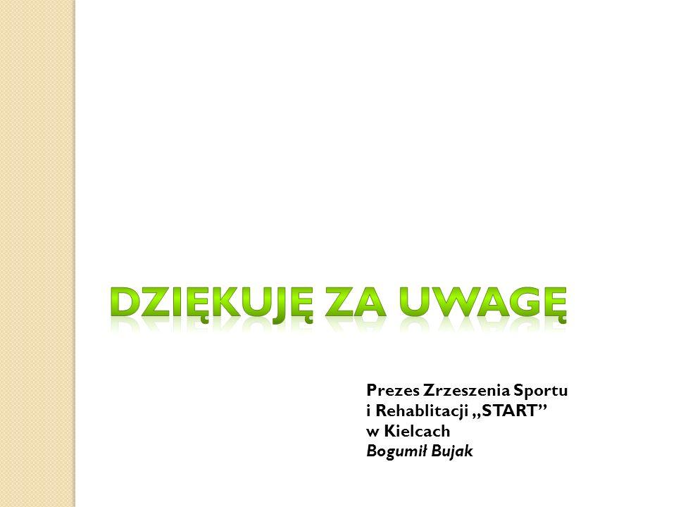 """DZIĘKUjĘ ZA UWAgę Prezes Zrzeszenia Sportu i Rehablitacji """"START"""