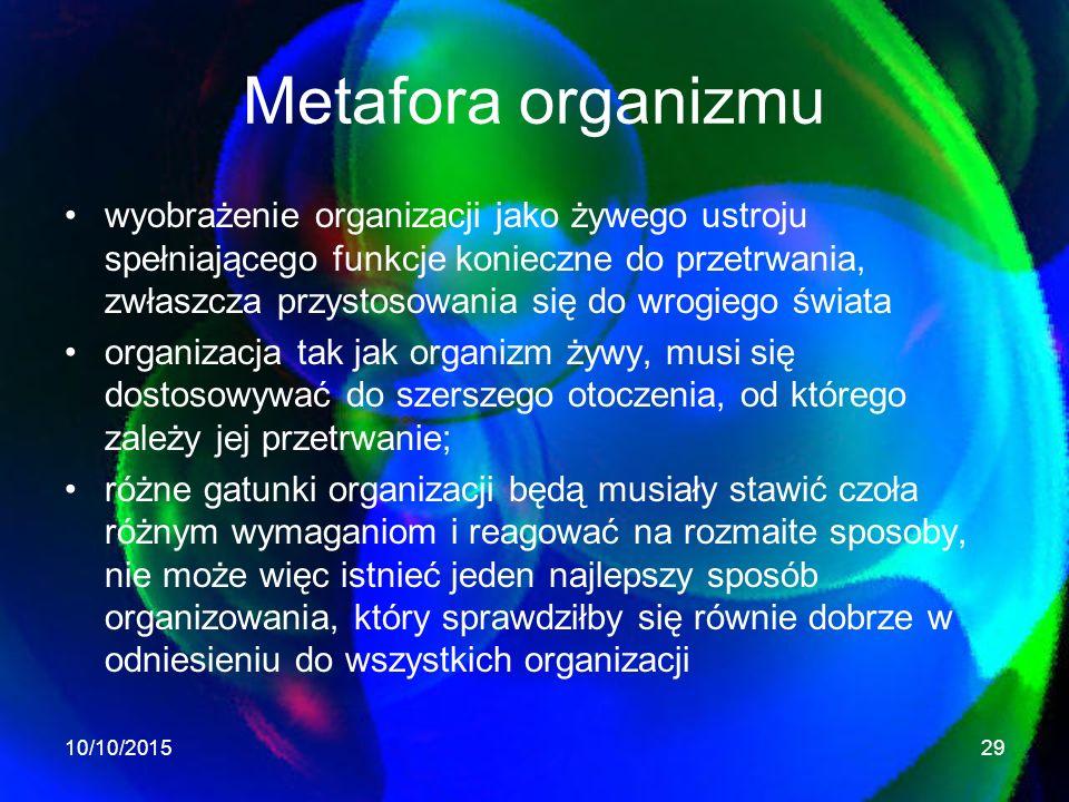 Metafora organizmu