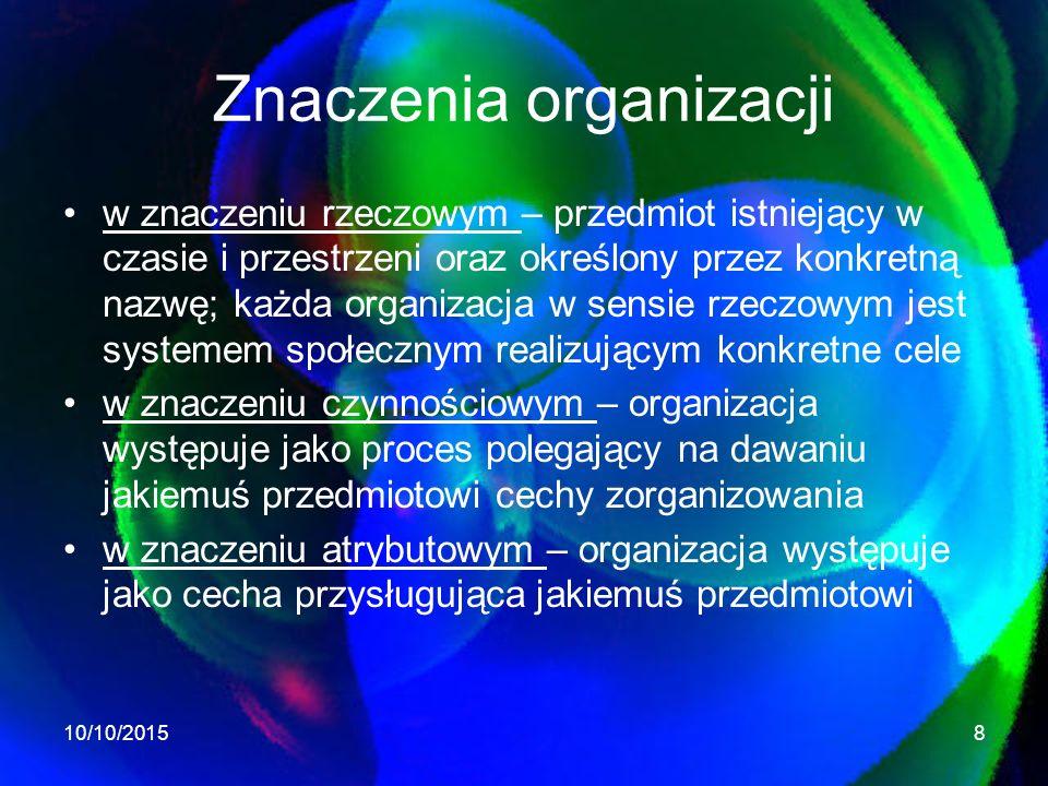 Znaczenia organizacji