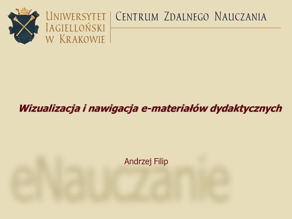 Wizualizacja i nawigacja e-materiałów dydaktycznych