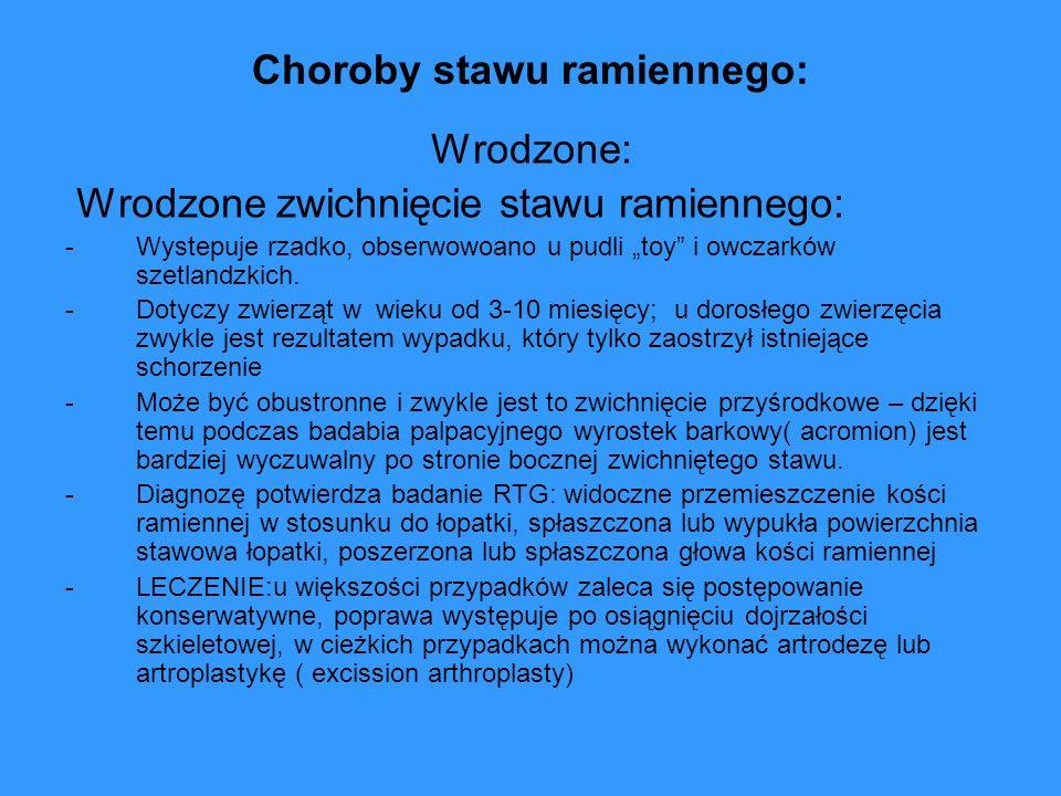 Choroby stawu ramiennego: