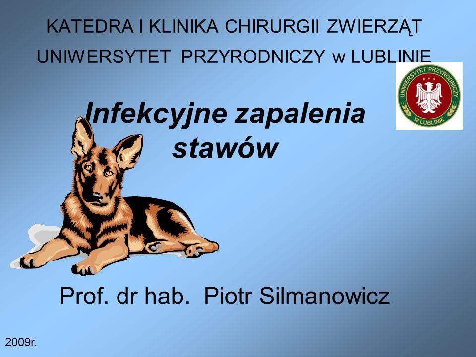 Infekcyjne zapalenia stawów Prof. dr hab. Piotr Silmanowicz